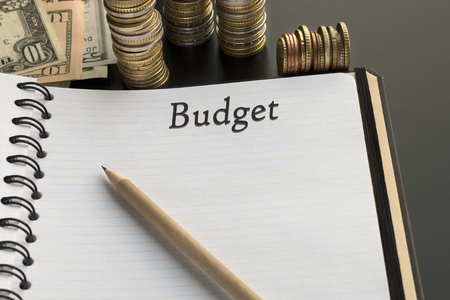 Budget planning concept. Notepad with Budget text, Financial planning
