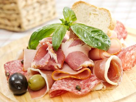 Ham plate Stock Photo