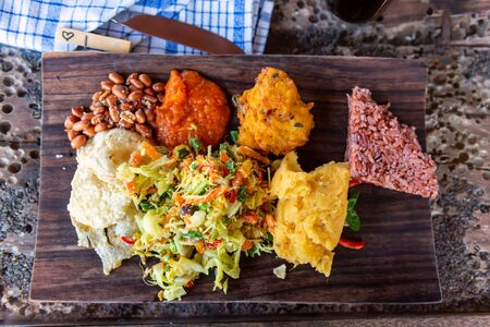 Balinese traditional food. Bali, Indonesia. Top view