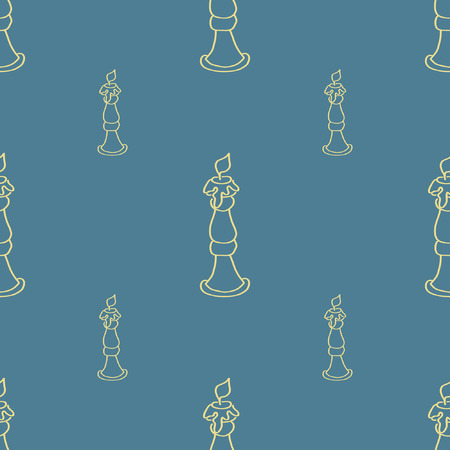 candelabra: Candelabra, seamless background with silhouettes of antique candelabras