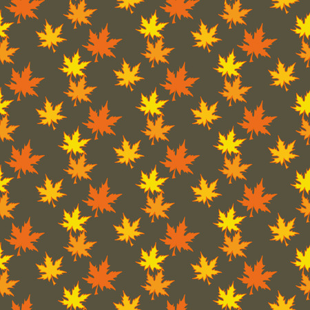 autumn leaves background: Autumn leaves, Seamless background with a set of colourful leaves