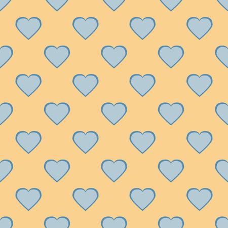 corazones azules: corazones en colores pastel bastante, romántica de fondo sin fisuras con un conjunto de corazones azules