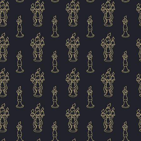 candelabra: Seamless background with antique candelabras Illustration