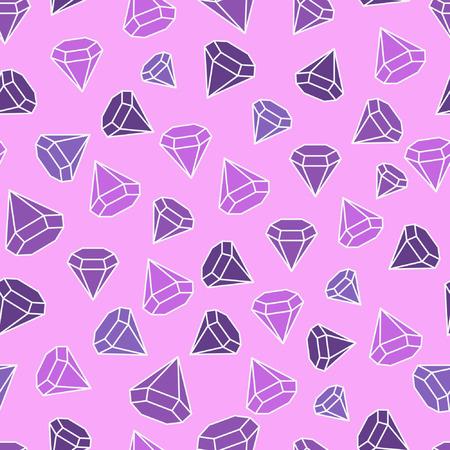 edelstenen: Edelstenen zijn altijd, Naadloos patroon met abstracte cartoon edelstenen