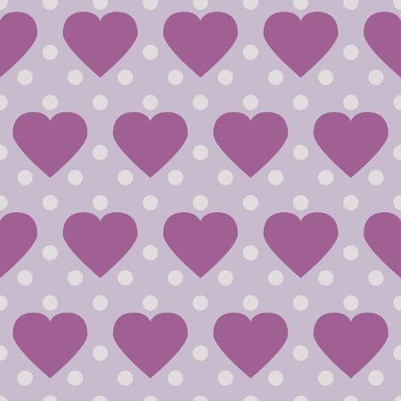 Polka Dot Corazones, fondo romántico inconsútil con los corazones abstractos