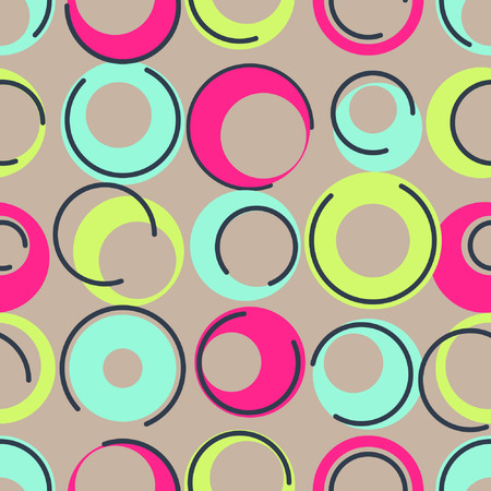 inspired: 1960s inspired, Seamless colorful background inspired by retro style