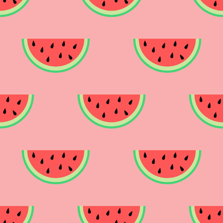 watermelon slice: Watermelon slice, Seamless summer background