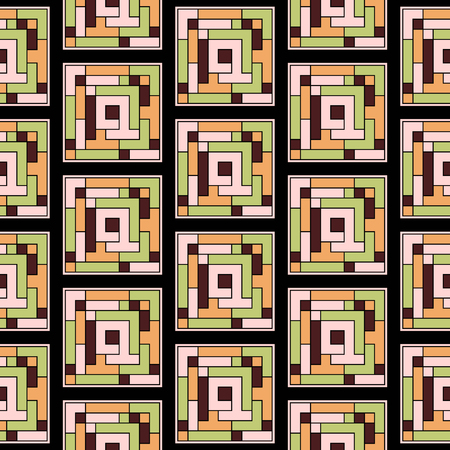 inspired: Art Deco inspired, Seamless pattern inspired by stained-glass windows and 20s