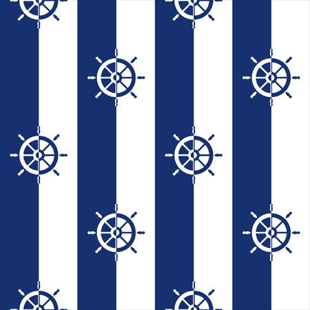 rayas marineras, rayas bretonas, De fondo sin fisuras con las siluetas de las ruedas de la nave