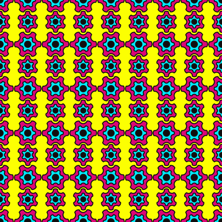 inspired: Circus colors, Seamless pattern, bright colors, inspired by 60s Illustration