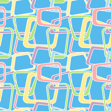 60's: Candy colors, Seamless abstract pattern with geometric shapes, inspired by 60s Illustration