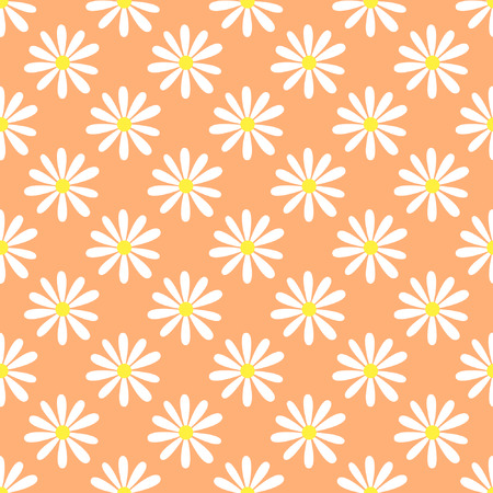 camomile: Pretty camomile, Seamless summer pattern with abstract flowers of camomile Illustration