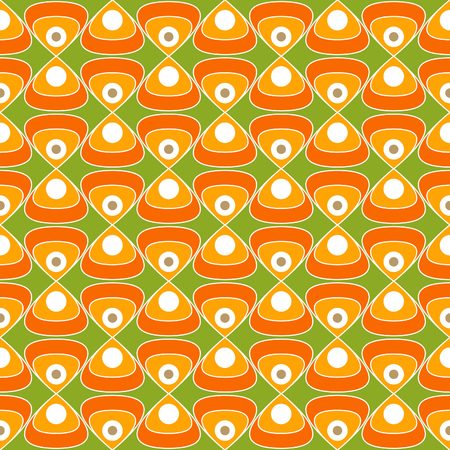 60's: 60s fabric, Bright and colorful pattern inspired by retro design, 60s and 70s