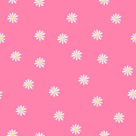 Camomilla carina, modello senza saldatura con fiori astratti di camomilla