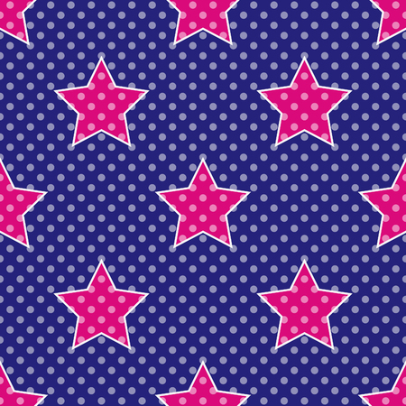 60's: Pop Art Stars, Seamless pattern inspired by 60s style and comics