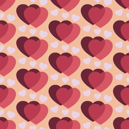 st  valentine's: Dark cherry hearts, Seamless romantic background for St. Valentines day