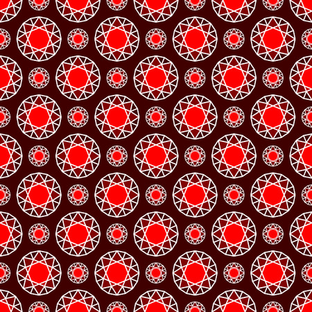 gemstones: Gemstones are forever, Seamless pattern with abstract rubies, deep red color Illustration