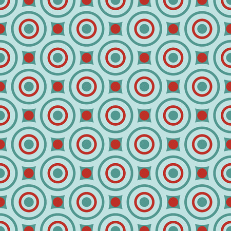 Retro textile pattern, Seamless geometric background inspired by the style of 60s Illustration