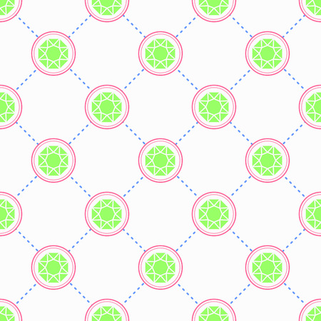 gemstone: Emerald pattern, Seamless vector pattern with icons, gemstone background, repeating pattern