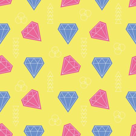 gemstones: Colorful gemstones, Seamless vector illustration with cartoon stones Illustration