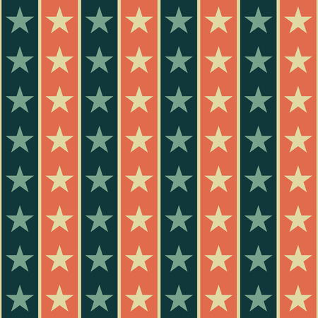 star pattern: Retro star pattern, american style, seamless vector illustration Illustration