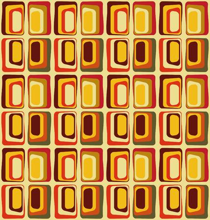 60 年代、シームレス パターンにインスパイアされたレトロなテキスタイル