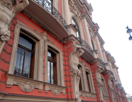 Architecture of Saint Petersburg, Nevsky prospect in a summer day, July 2016