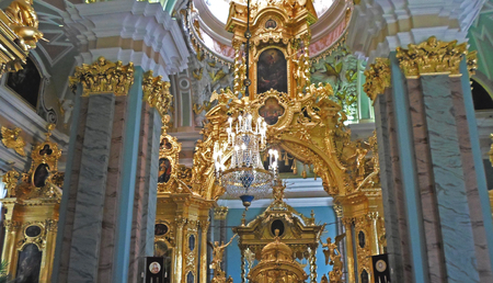 Ceiling of Saints Peter and Paul Cathedral, Saint Petersburg, Russia - July 2016