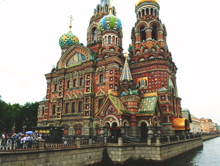 Church of the Savior on Spilled Blood, one of the main sights of St. Petersburg, Russia - June 2016 Editorial