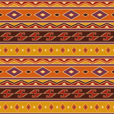 Abstract pattern, Seamless vector illustration with African motifs Illustration