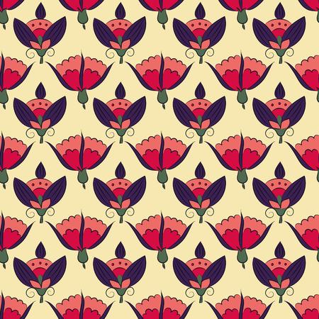 아르누보 꽃, 원활한 꽃 무늬 빈티지 스타일