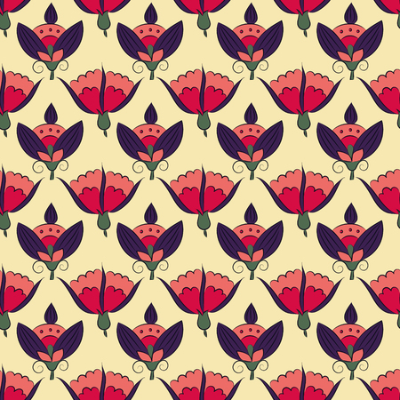 Jugendstil-Blumen, Seamless floral gemusterten Vintage-Stil Standard-Bild - 86557887