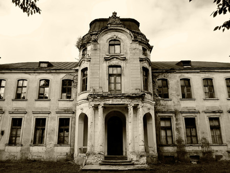 Abandoned palace in Belarus (Zheludok, Grodno region), built in the early twentieth century, example of Art Nouveau style Reklamní fotografie