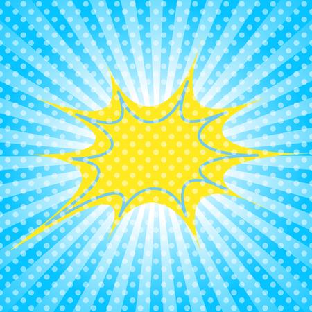 Sun burst illustration.