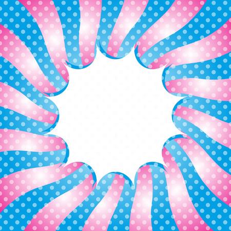 ポップアートテンプレート, レトロなサンバースト光ヴィンテージスタイル  イラスト・ベクター素材