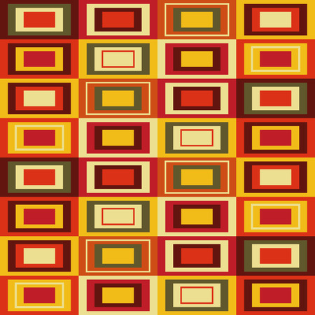 Abstract pattern with rectangles, illustration, retro Ilustração