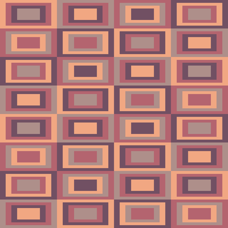 Abstract pattern with rectangles, seamless vector illustration, retro background.