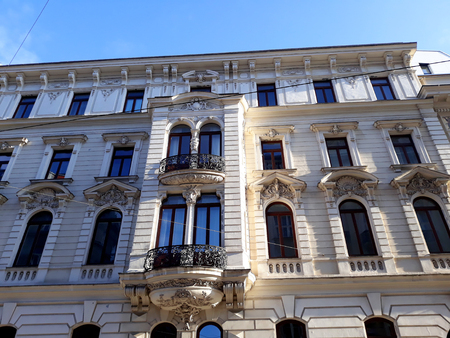 Vienna, Austria - December 16, 2017: Historical buildings in Vienna city center