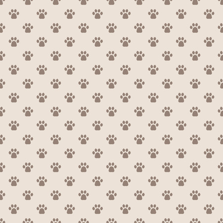 Cats Paw Print. Seamless animal pattern of paw footprint