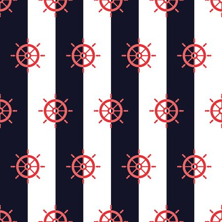 Nautical pattern, Seamless vector illustration with ship steering wheels 向量圖像