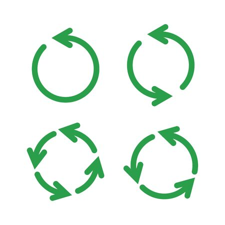 Illustration of recycle arrow, reuse and recycling Illustration