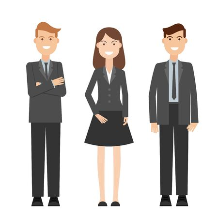 Vector detailed characters people, business people men and women.