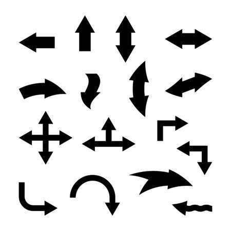 Set of black vector arrows. Vector Icons Vettoriali