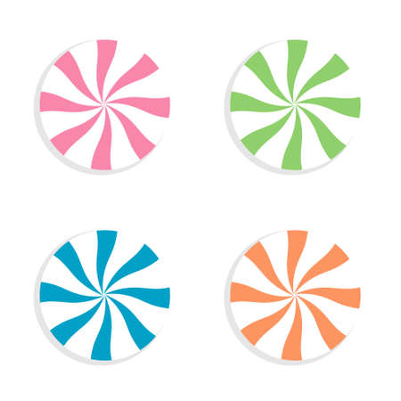 Lollipops candy on a white background. Vector illustration.