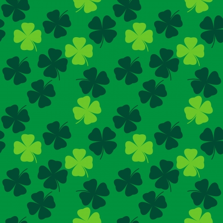 seamless pattern with clover leaves vector background Vector