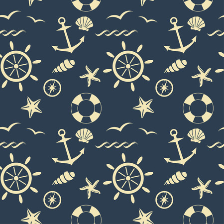 seafaring: nautical seamless pattern vector background