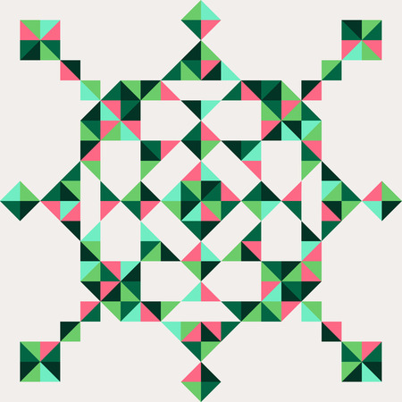 contrasty: abstract geometric snowflake of triangle vector for design Illustration