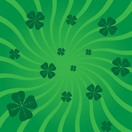 abstract striped background with clover leaves vector Vector
