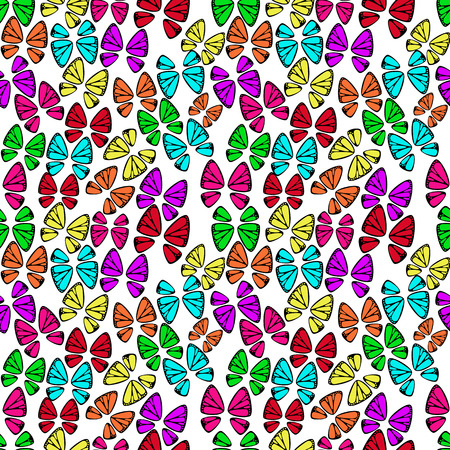 seamless pattern with colorful butterflies vector background Vector