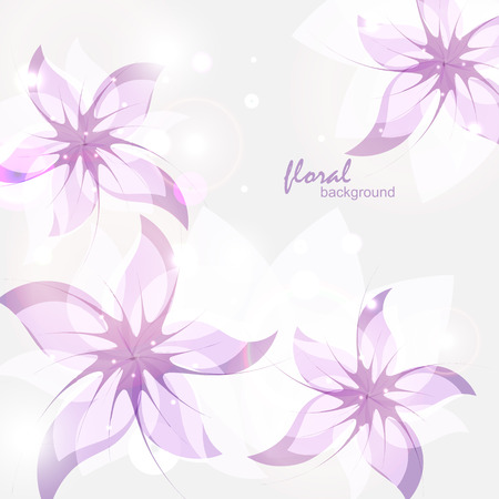 daisy wheel: floral background with abstract lilac flowers